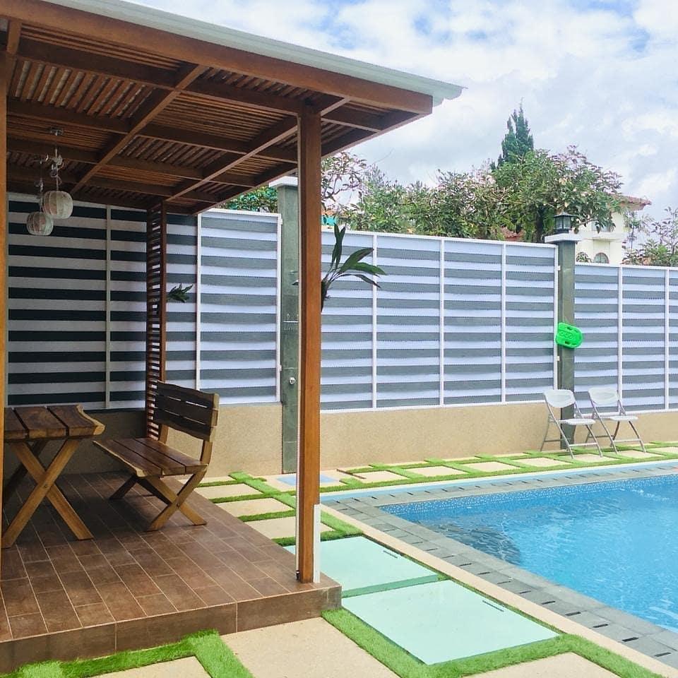 villa 4 kamar kolam renang kota bunga