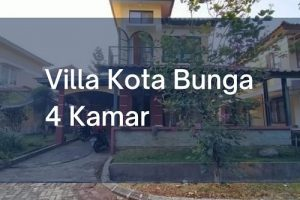 Villa di Kota Bunga Puncak 4 Kamar Tidur